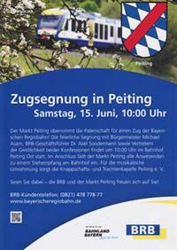 Flyer zur Zugsegnung 2013