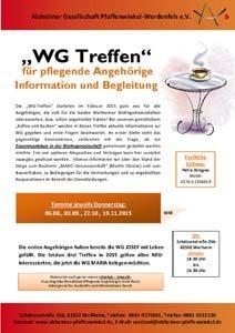 WM AG DO WG-Treffen Handzettel